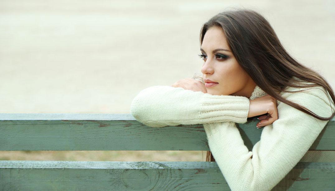 woman gazing longingly